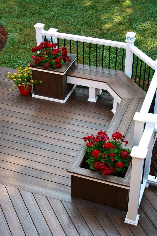 Creative front porch garden design ideas 50