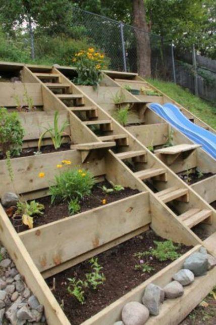 Creative garden design ideas for slopes 51