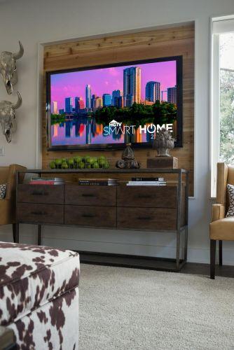 Creative ideas hiding a tv in the living room 07
