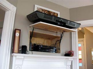 Creative ideas hiding a tv in the living room 11