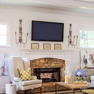 Creative ideas hiding a tv in the living room 15