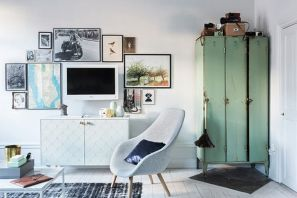 Creative ideas hiding a tv in the living room 32