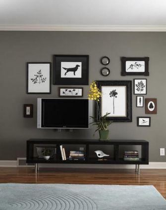 Creative ideas hiding a tv in the living room 33