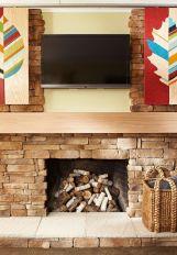 Creative ideas hiding a tv in the living room 36