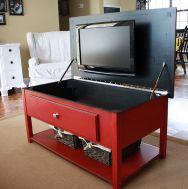 Creative ideas hiding a tv in the living room 43