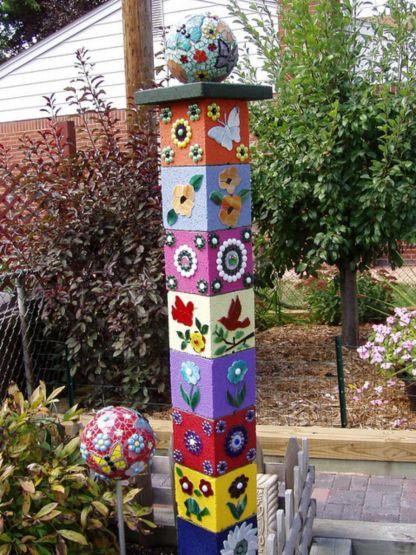 Cute and cool garden art for kids design ideas 46