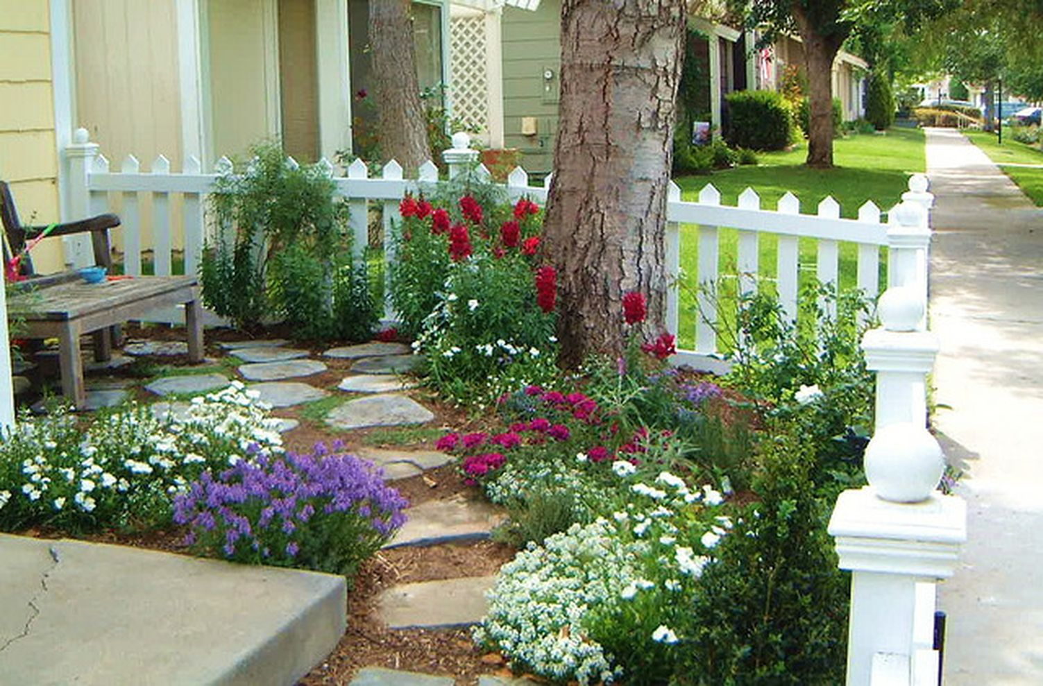 87 Cute and Simple Tiny Patio Garden Ideas - ROUNDECOR on Basic Patio Ideas id=62067