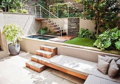 Cute and simple tiny patio garden ideas 85