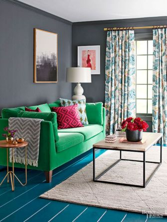 Dark green living room furniture 13