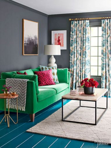 Dark green living room furniture 13