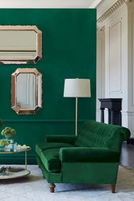 Dark green living room furniture 27