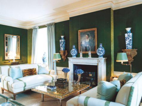 Dark green living room furniture 34