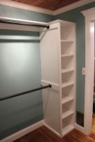 Easy and affordable diy wood closet shelves ideas 12