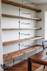 Easy and affordable diy wood closet shelves ideas 41