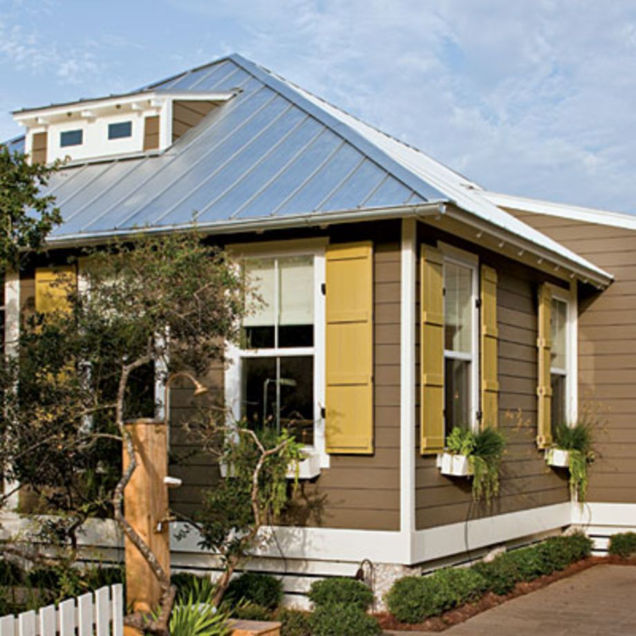 Exterior house colors with brown roof 02