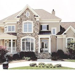 40 Exterior House Colors With Brown Roof Roundecor