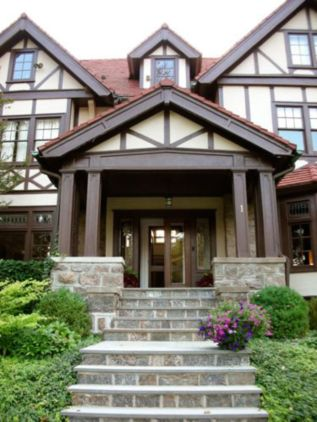 Exterior house colors with brown roof 13