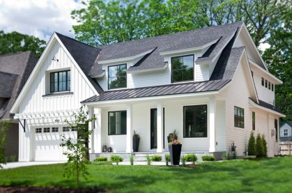 Exterior house colors with brown roof 15