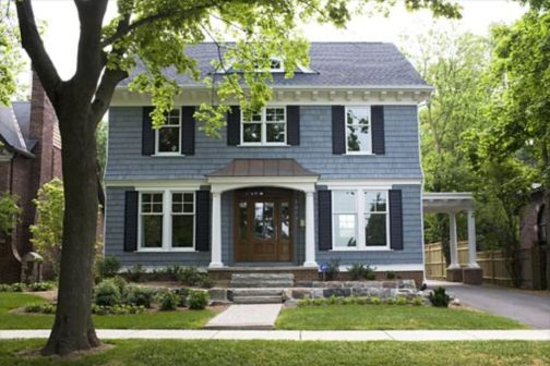 Exterior house colors with brown roof 39
