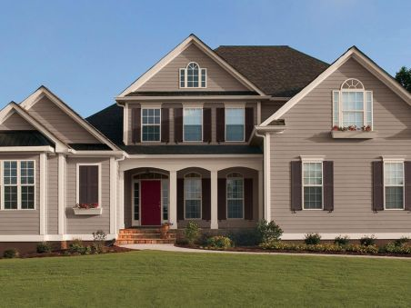 Exterior paint color ideas with red brick 04
