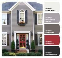 Exterior paint color ideas with red brick 14 - Round Decor