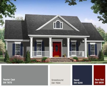 Exterior paint color ideas with red brick 22