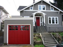 Exterior paint color ideas with red brick 36