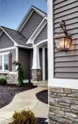 Exterior paint color ideas with red brick 37