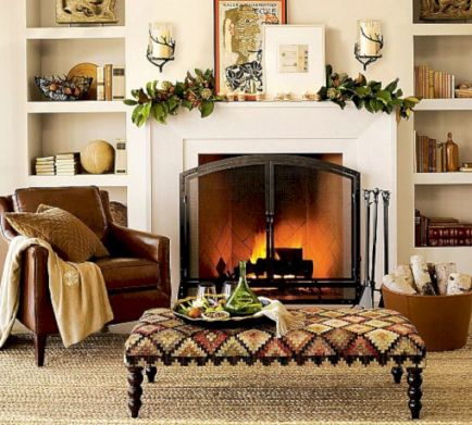 Furniture placement ideas with fireplace 05