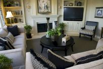 Furniture placement ideas with fireplace 08