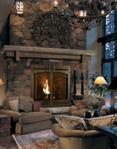 Furniture placement ideas with fireplace 14