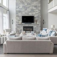 Furniture placement ideas with fireplace 21