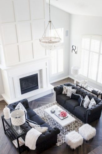 Furniture placement ideas with fireplace 40