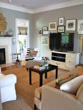 Furniture placement ideas with fireplace 44