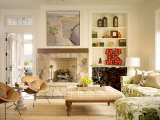 Furniture placement ideas with fireplace 48