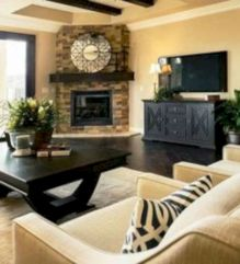 Furniture placement ideas with fireplace 51