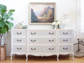 Gray shabby chic furniture 11