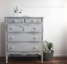 Gray shabby chic furniture 44