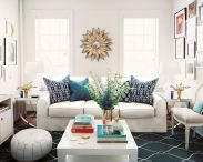 Incredible teal and silver living room design ideas 05