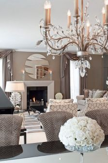 Incredible teal and silver living room design ideas 11
