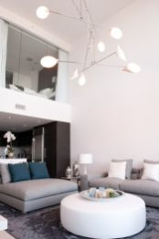 Incredible teal and silver living room design ideas 13