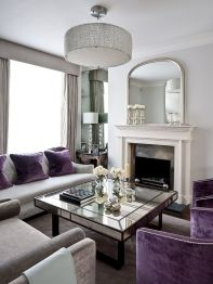 Incredible teal and silver living room design ideas 16
