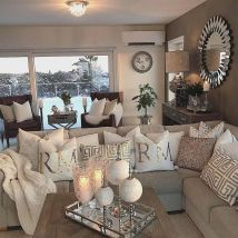 Incredible teal and silver living room design ideas 33