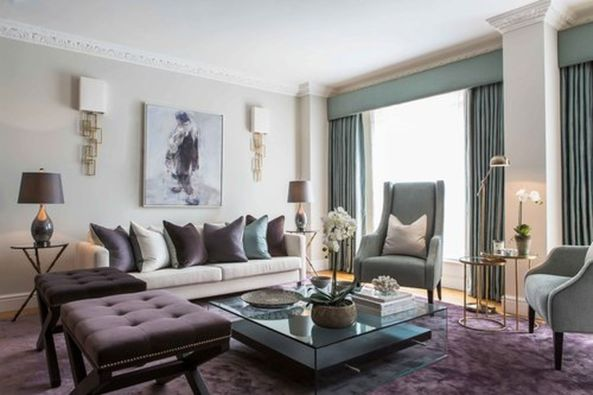 Incredible teal and silver living room design ideas 38