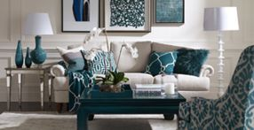 Incredible teal and silver living room design ideas 39