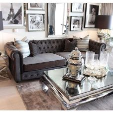 Incredible teal and silver living room design ideas 42