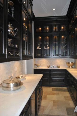 Inspiring black quartz kitchen countertops ideas 15