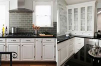 Inspiring black quartz kitchen countertops ideas 22