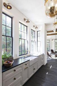 Inspiring black quartz kitchen countertops ideas 52