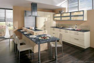 Modern cream painted kitchen cabinets ideas 13